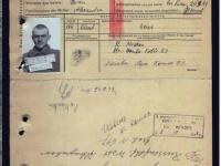 Картка полоненого моряка Пінської військової флотилії Глухова О.І., взятого у полон під Києвом у перший день прориву з оточення, ймовірно десь біля Борисполя.